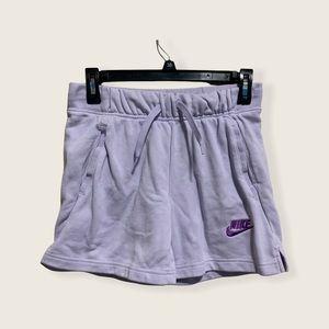 Nike girls purple knit shorts
